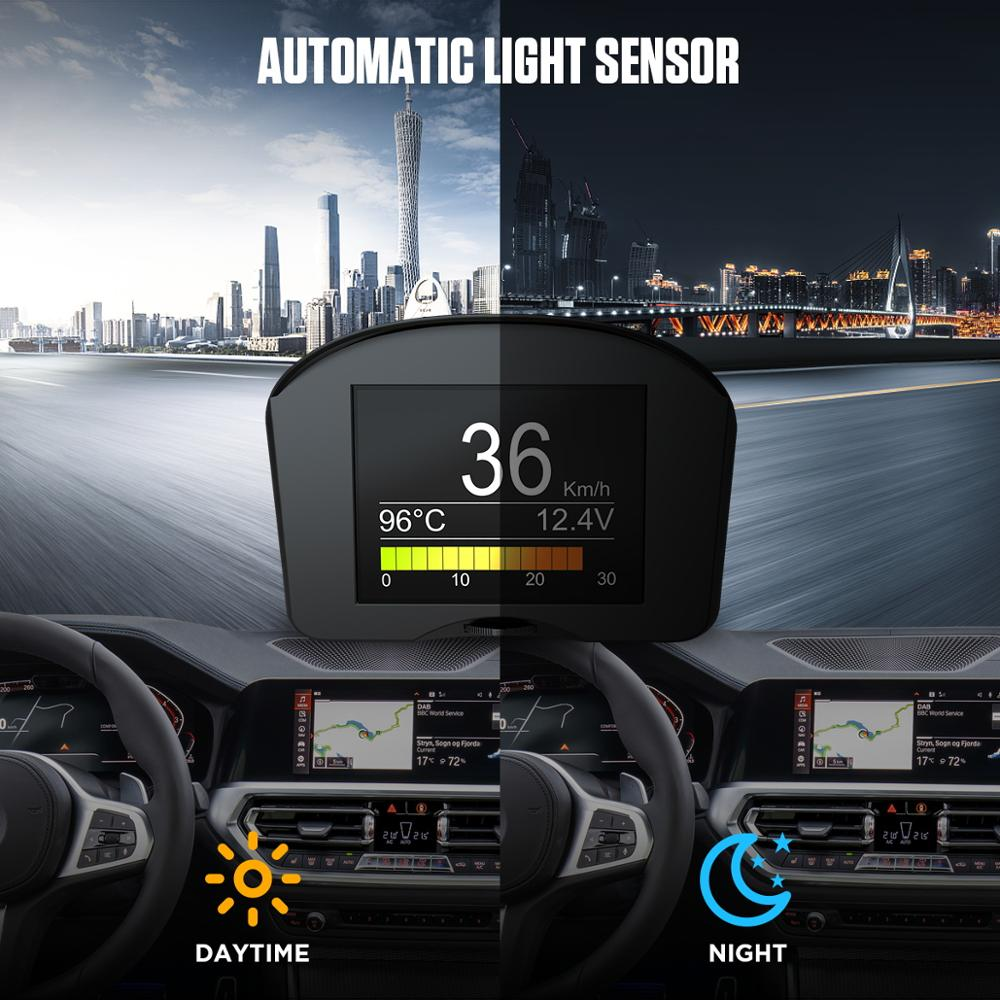 cheapest AUTOOL X50 Plus HUD Head up Display Car OBD Smart Fuel consumption meter Temperature Gauge Alarm Fault Code Voltage Speedometer