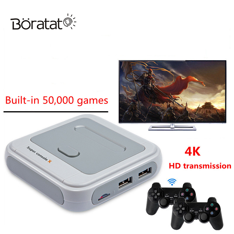 Super Game Console PSP Nostalgic Home Arcade 5K Games 4K HD-Compatible WIFI Output Mini TV Video Game Player For PSP/PS1/N64/DC