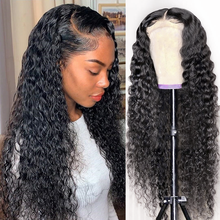 Curly Lace Front Human Hair Wigs Deep Wa