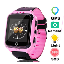 Hot Sell GPS Smart Watch With Camera Flashlight Baby SOS Call Location Device Tracker for Kid Safe PK Q100 Q90 Q60 Q50