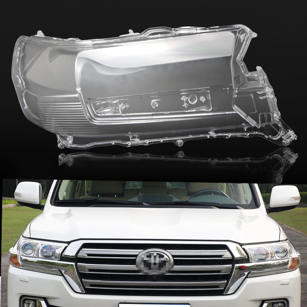 Car Headlamp Lens For Toyota Land Cruiser 2016 2017 2018  Car  Replacement Lens Auto Shell Cover