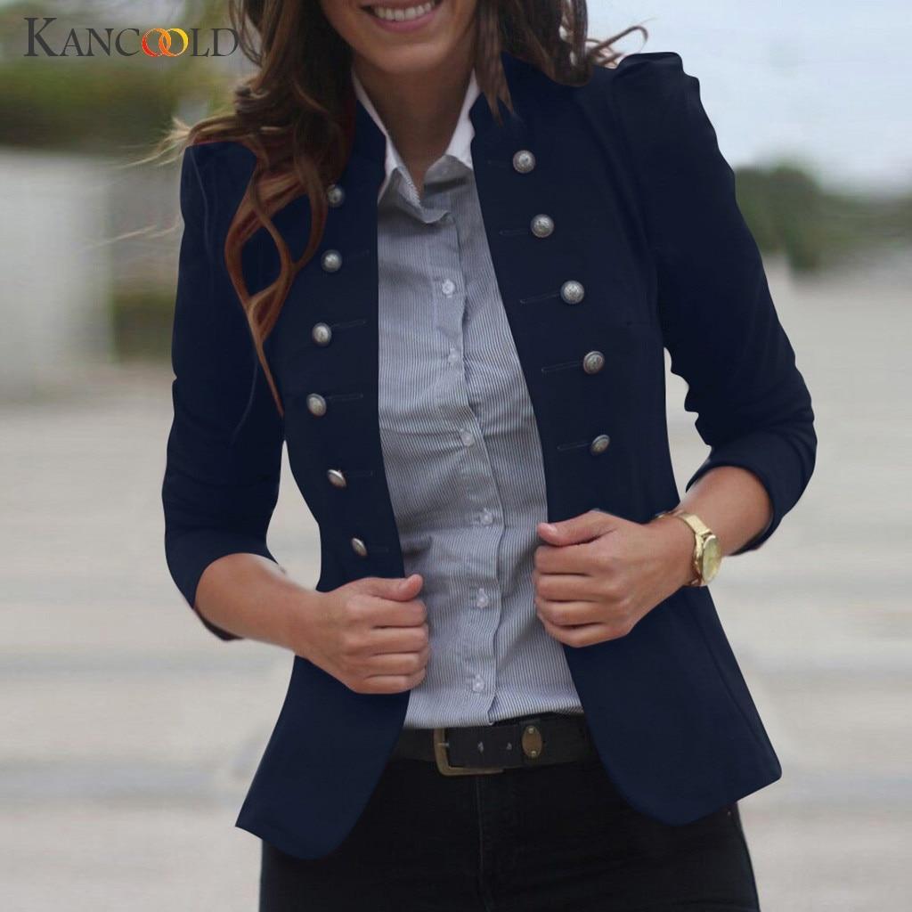 KANCOOLD coats Women Winter Warm Vintage Tailcoat Jacket Overcoat Outwear Uniform Buttons new woman and jackets 2019JUL29
