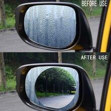 2 unids/set Anti niebla coche espejo ventana transparente película antirreflejo coche retrovisor película protectora para espejo impermeable para coche pegatina