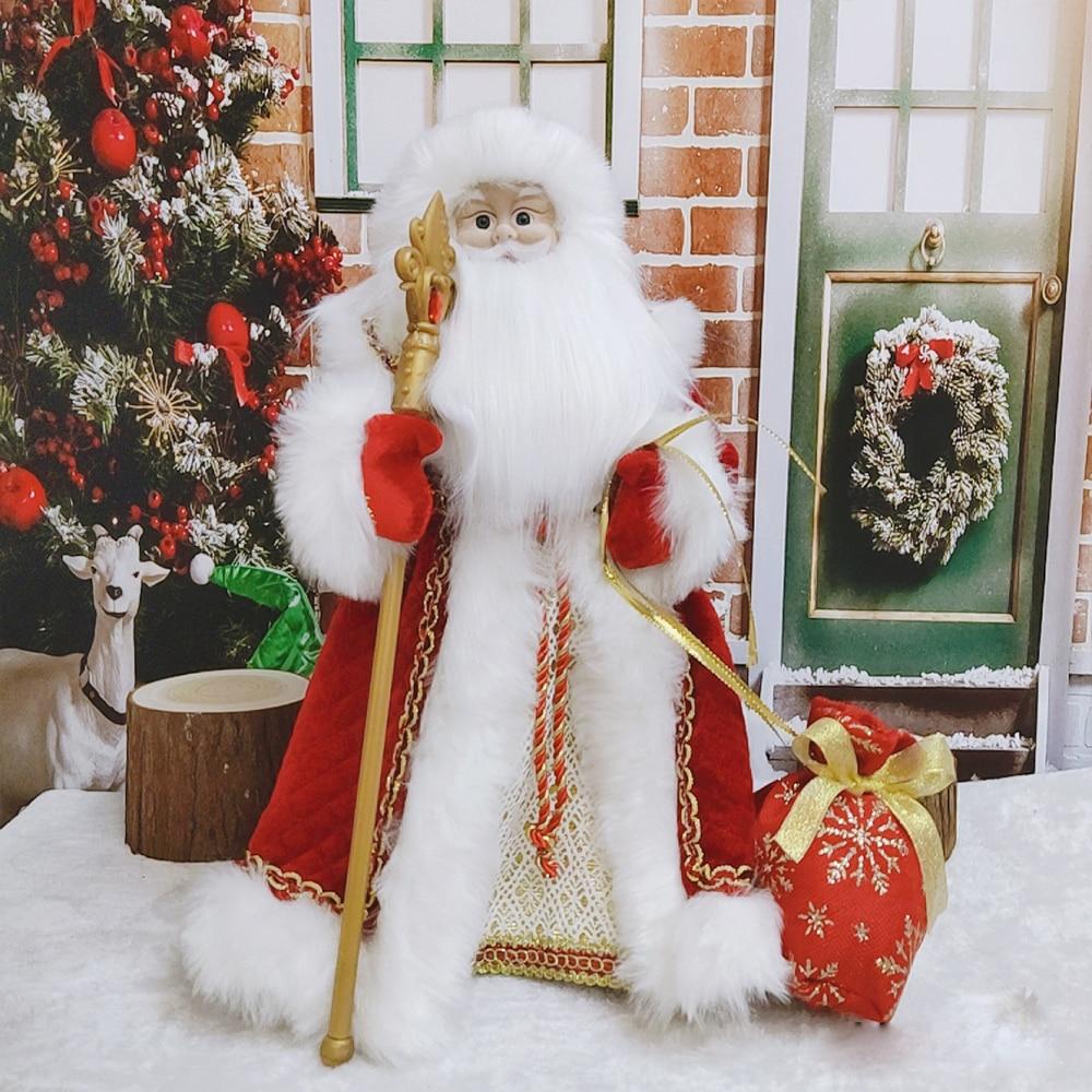 Подарок для детей, детские игрушки, Поющая и танцевальная Милая стоячая кукла Санта-Клауса, рождественские статуэтки, елочные шары, праздни...