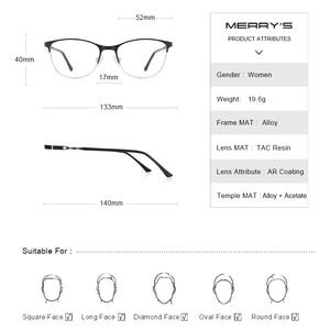 Image 4 - MERRYS DESIGN kobiety moda trendy kocie okulary pełna ramka panie krótkowzroczność okulary korekcyjne okulary optyczne S2110