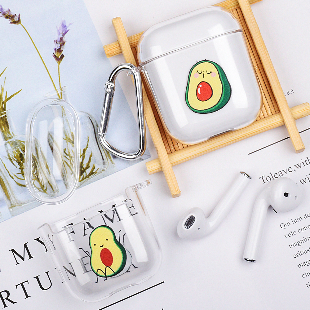 Cases For Apple Airpods Case Summer Fruit Avocado Wireless Bluetooth Earphone Case For Airpods Headphone Hard PC Protective Case