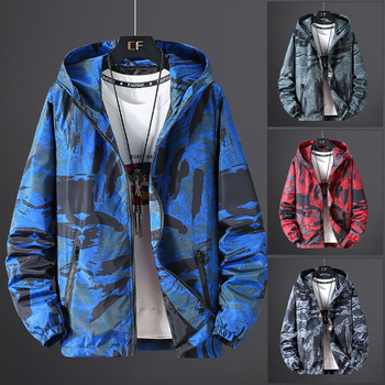 Brieuces Plus 7XL 6XL 5XL Men's Jackets Camouflage Military Hooded Coats Casual Zipper Male Windbreaker Men jacket fashion women thin military jacket windbreaker loose zipper button short coats female vintage camouflage army green jackets