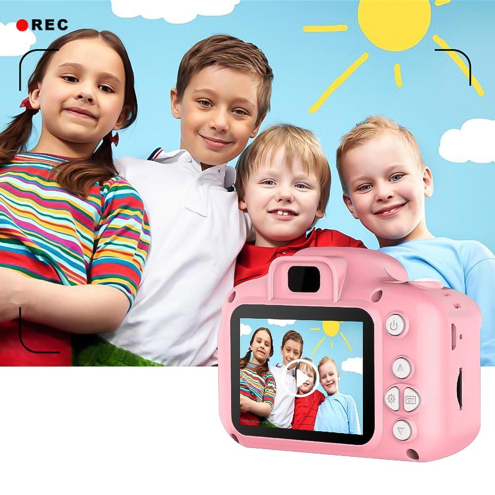 Hb5d7e8fccf6645bda03120cc4e1fb1caM Kebidu Mini Digital Camera 2 Inch Cartoon Cute Camera Toys Children Birthday Gift 1080P Toddler Toys camera