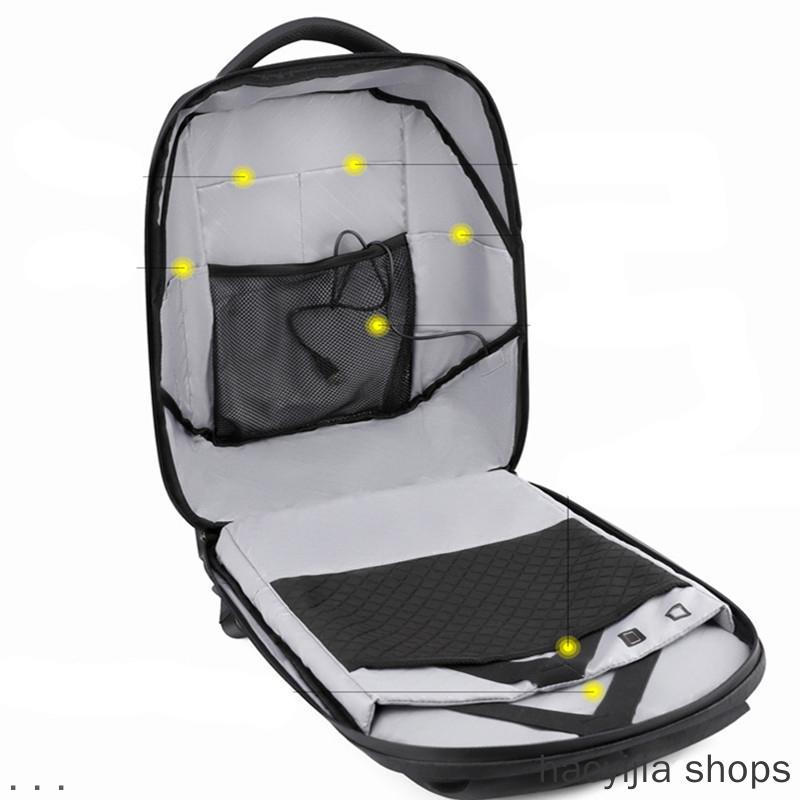 LED WiFi Dynamic Portable Backpack Advertising Travel Bag Board Screen Rucksack