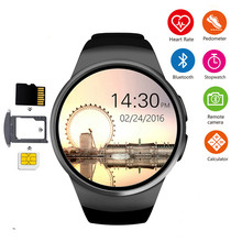 цена на KW18 Bluetooth smart watch full screen Support SIM TF Card Smartwatch Phone Heart Rate for apple gear s2 huawei xiaomi