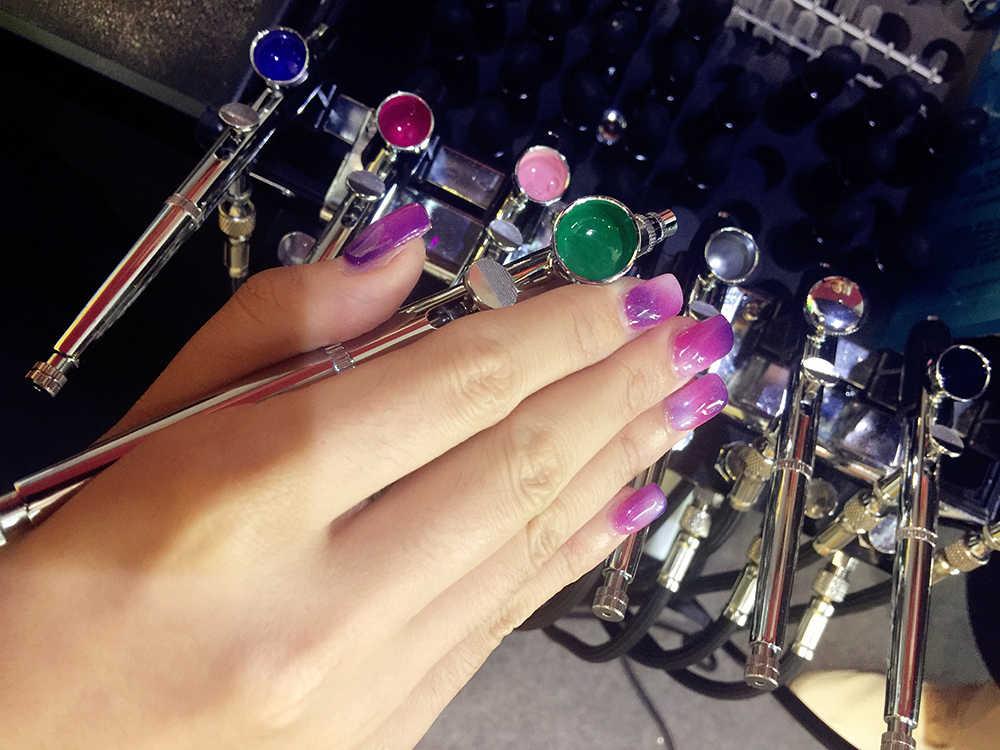 OPHIR aérographe ongles Gel manucure UV LED Gel pour aérographe Base d'alcool 3 étapes Art des ongles vernis Gel 30 couleur pour choisir S001-