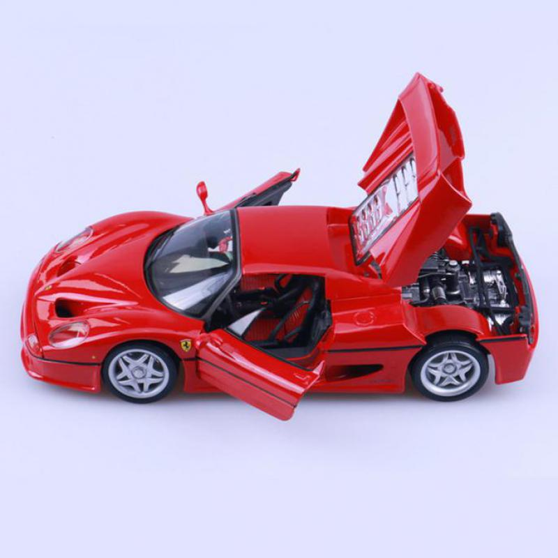 1/18 F50 Sports Car Alloy Diecast Model Metal Car Miniatures <font><b>Voiture</b></font> Static Simulation Mini Car Decorations Home Collection Toys image