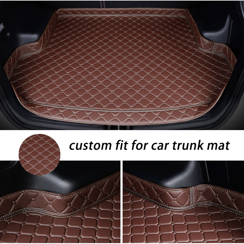 Custom car trunk mat for Volvo S90 L S90L V40 V60 S60 S80 XC60 XC90 hybrid cargo boot liner carpet rug protector
