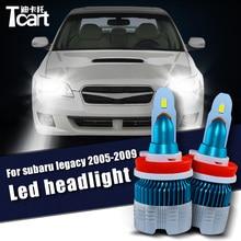 For Subaru legacy 2005 2006 2007 2008 2009 accessories Tcart Led Headlight Low light High light HB3 9005 h7 Bulbs 6400LM 1set