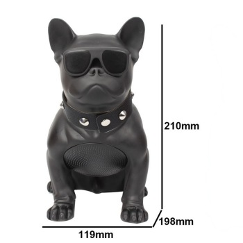 M10 Wireless Bluetooth Speaker Bulldog Portable Stereo Super Bass USB AUX Outdoor Full Dog Subwoofer Audio Speakers Consumer Electronics Electronics Speakers