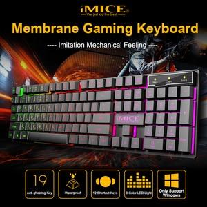 Gaming Keyboard Russian Keyboard 104 Keycaps Wired RGB Backlit Keyboard Computer Gamer Keyboard Ergonomic For Laptop DOTA