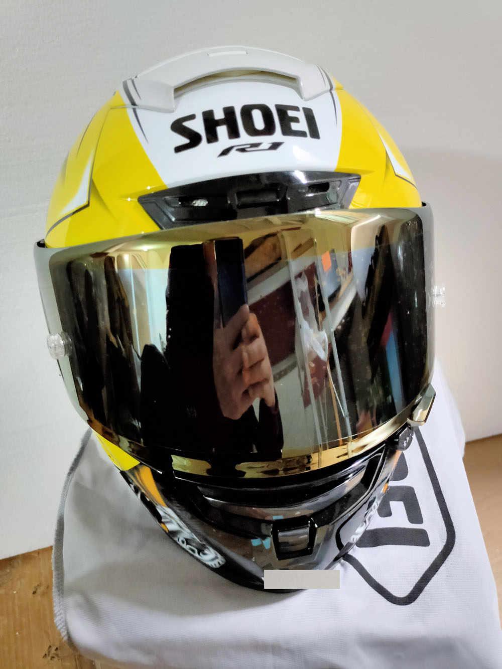 Özel fiyat satış tam yüz kask X14 yamaha R1M altın renk kask siyah karınca sürme Motocross yarış motosiklet kask