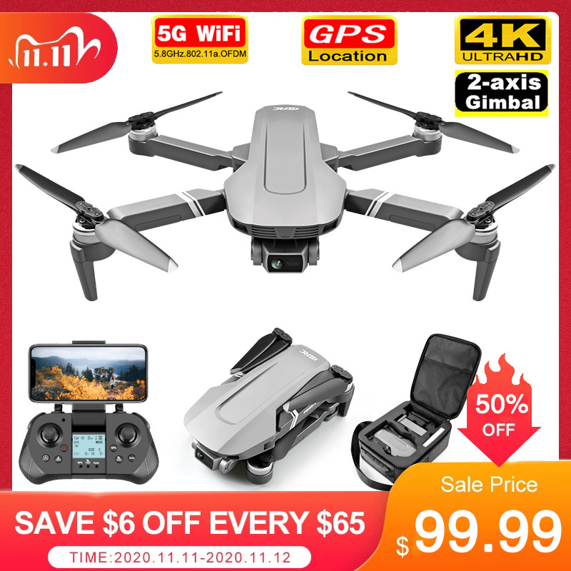 F4 GPS Drone with 5G WiFi FPV 2 axis Gimbal 4K Dual Camera Profesional Brushless RC Quadcopter Dron Helicopter Toy VS SG906 Pro|RC Helicopters| - AliExpress