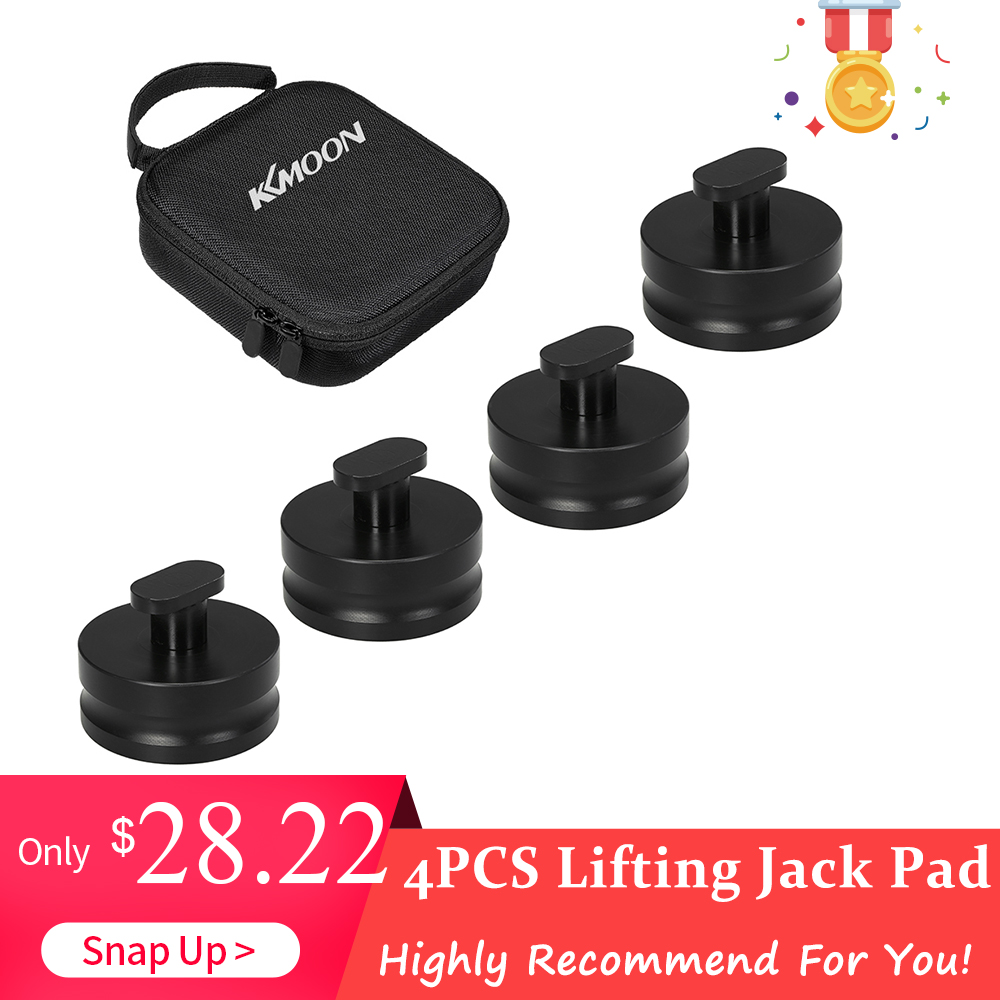 4pcs For Corvette C5 C6 Z06 KKMOON Black Aluminum Jacking Lift Pad Jack Pads Lift Pucks Jack Pucks
