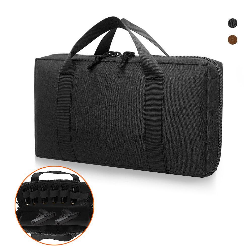 Tactical Gun Bag Case Pistol Carrier Magazine Pouch Portable Military Hunting Handgun Holster Padded Pistol Holder Case