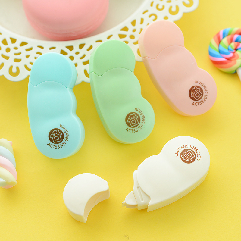 M&G Stationery Mini Correction Tape ACT53201 Broad Bean Cute Small 5 M Long Students Corretion Pen/fluid Correction Tape