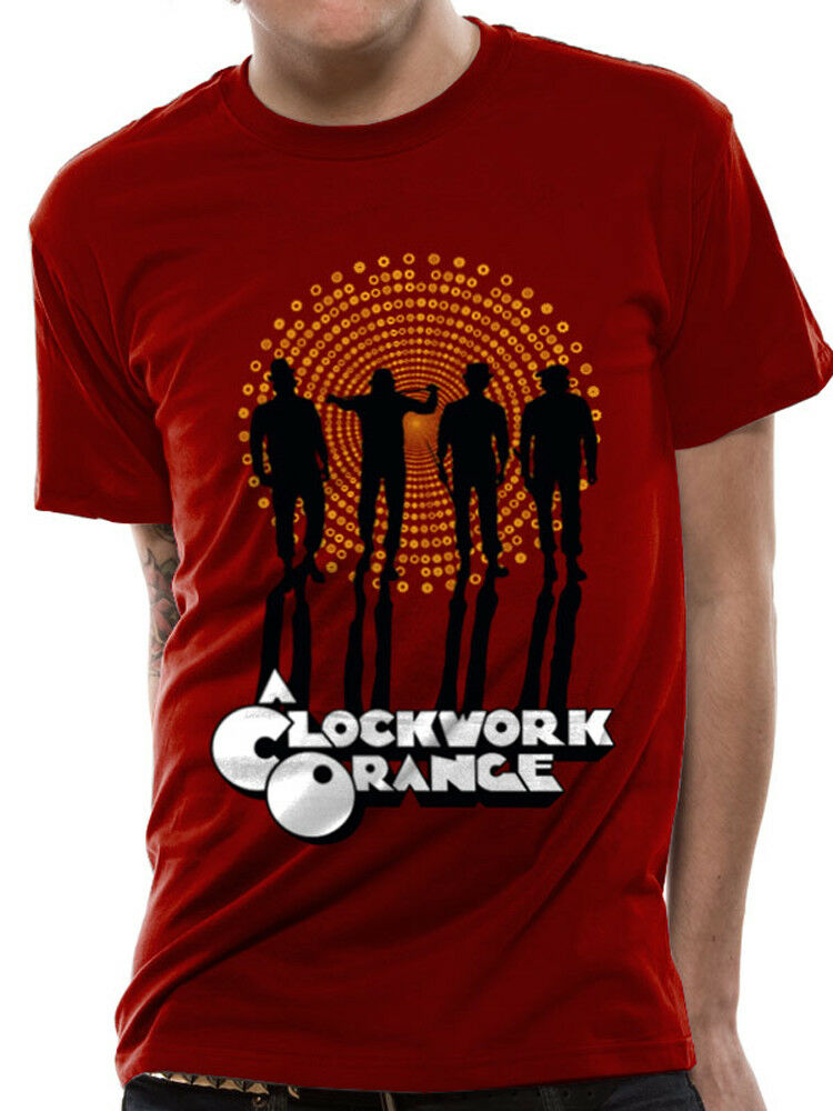 A Clockwork Orange Gang Movie Poster Red Mens Tshirt Fashion Men T Shirt Free Shipping top tee image