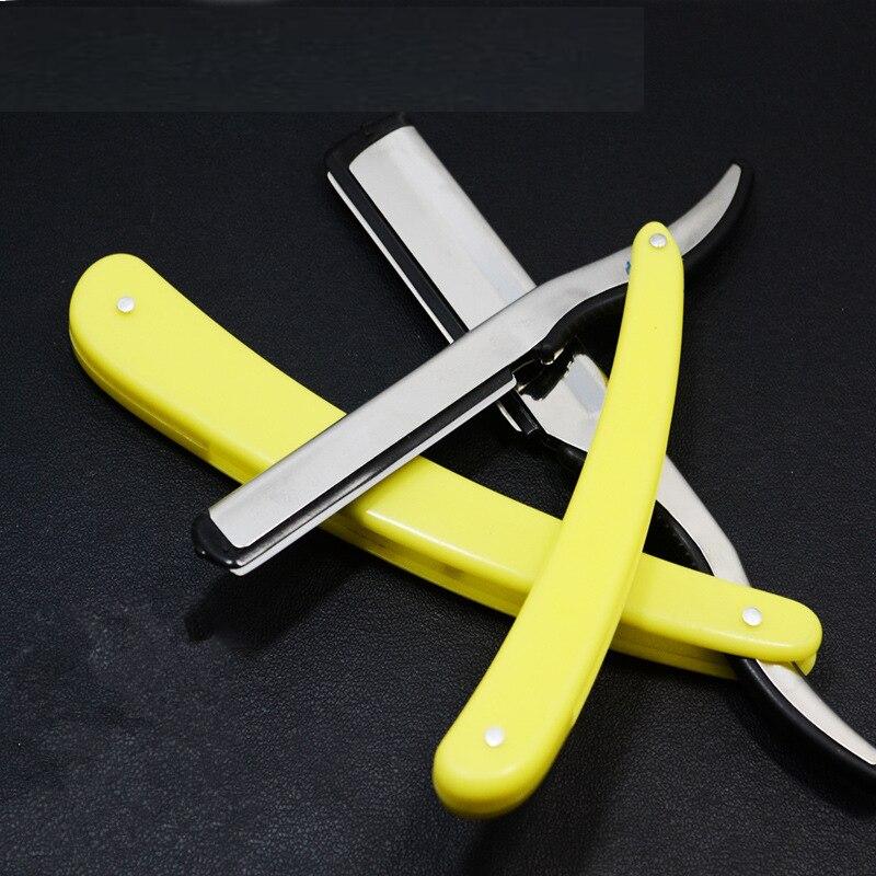 Old-fashioned Razor Folding Razor Barber Shaving Razor Shaving Head Shaving Eyebrow Knife Holder Hair Cutter G1126