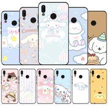 Fofos para celular preto macio caso de telefone para huawei p40 p30 p20 p10 pro lite p9 lite nova 4e 6se psmart 2019 y6 9 prime