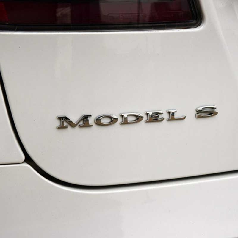 MODEL S Letters Emblem for Tesla Car Styling Refitting High Performance Trunk Logo Sticker Chrome Black Red black