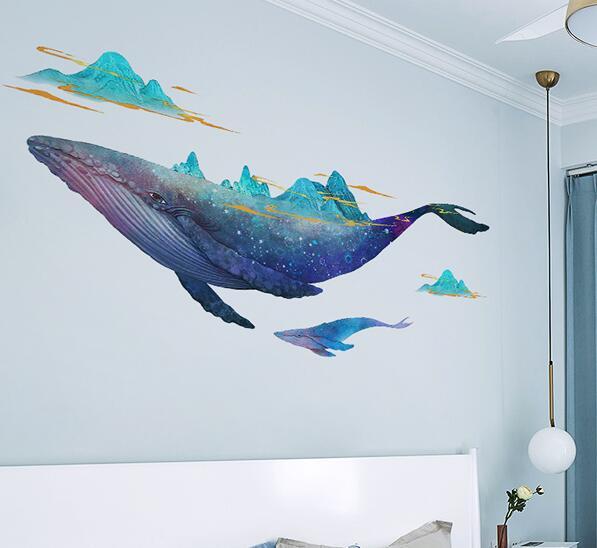 E-BC-Big-fish-sticker-wall-sticker-background-wall-decoration-cartoon-animal-wall-sticker