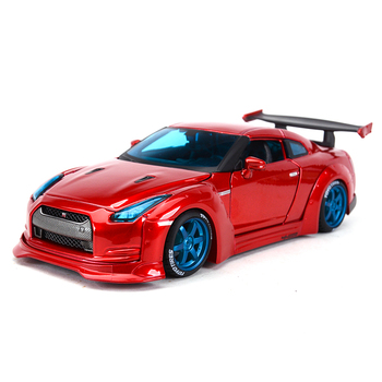 цена на Maisto 1:24 Nissan 2009 GT-R Red Sports Car Static Simulation Diecast Alloy Model Car