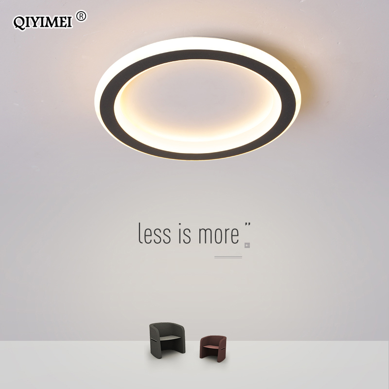 Round Square Led Ceiling Lights For Home Entrance Balcony Corridor Plafond Lamp Simple Black Lighting Luminaria Lustre Luminaire