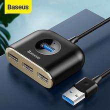 Baseus 4 in 1 USB 3,0 HUB Adapter USB A zu USB 2,0 HUB Für Flash Disk Maus Tastatur Computer mit Lampe USB C Zu USB 3,0 HUB