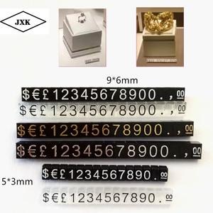 20 шт цена кубики с цифрами цена продажи дисплей стенд Регулируемый Номер цифры знак часы ювелирные изделия поп ценообразование дисплей сте...