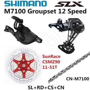 Image 4 - SHIMANO DEORE SLX M7100 Groupset MTB Mountain Bike 1x12 Speed 51T SL+RD+CSMZ90+X12 M7100 shifter Rear Derailleur