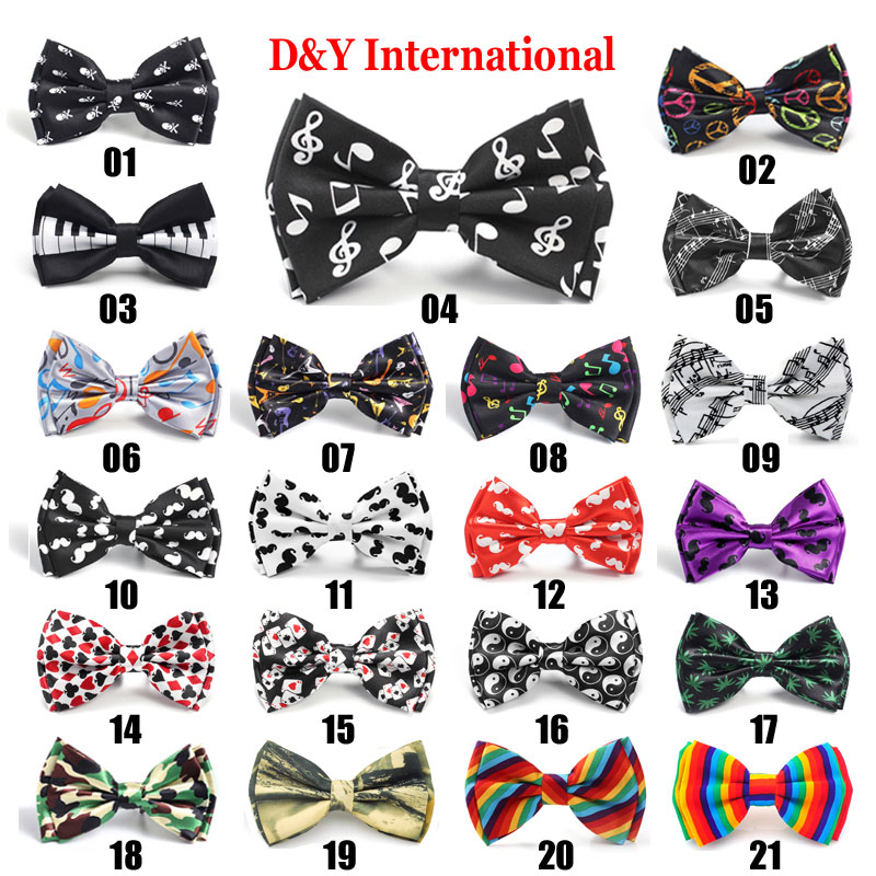 LOT 30 Patterns Mens Silk BOW TIE Novelty Tuxedo multi color Wedding Pre Tied