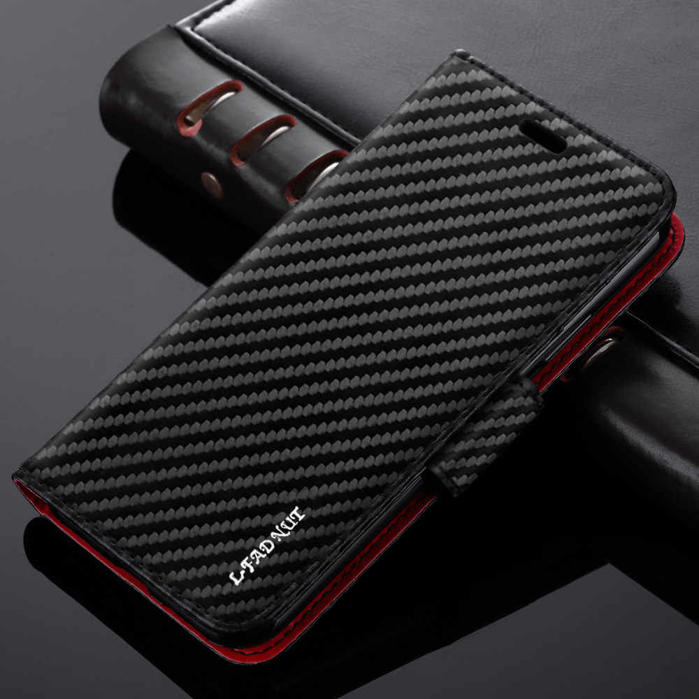 Luxe Carbon Fiber Wallet Telefoon Case Voor Iphone 8 Plus 7 6S 6 5 5S Se 2020 Flip lederen Cover Voor Iphone 11 Pro Max Xr X Xs