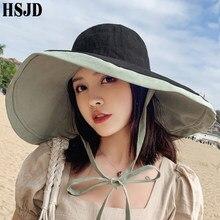 2020 novas mulheres verão super grande borda larga praia chapéus de dupla face dobrável anti-uv chapéu de sol panamá feminino protetor solar gorro