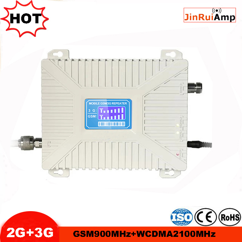 High Gain LCD Dual Band 2G,3G Cellular Signal Booster GSM Wcdma/umts 900 2100 Signal Repeater Gsm Amplifier 3G GSM Repeater
