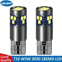 ASLENT 2PCS T10 W5W LED car interior light lamp 12V 168 194 501 Side Wedge parking bulb canbus auto for lada car styling 6000K цена 2017