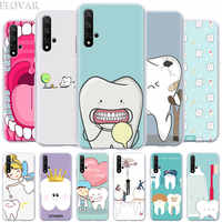 Phone Case coque for Honor 20 Pro 9 10 Lite 8X 8A 8C 8S 9X Pro Y7 Y9 2019 V20 Cover Dentist Teeth Tooth Hard PC Cases