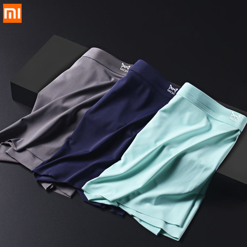 New Xiaomi Mijia seamless ice silk underwear for men Quick-drying silky 3D men s boxer Breathable Cool Elasticity Men Panties