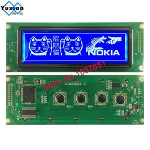 Image 5 - 24064 240*64 شاشة الكريستال السائل لوحة الأخضر الأزرق وحدة الشاشة الرسومية UCI6963 أو T6963 LCM24064 2 LM24064DBY شحن مجاني 1 قطعة