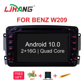 LJHANG Android 10 Car Multimedia Player For Mercedes Benz/CLK W209/W463/Viano/Vito W639/W203 WIFI GPS 2 Din Car Radio Stereo RDS image