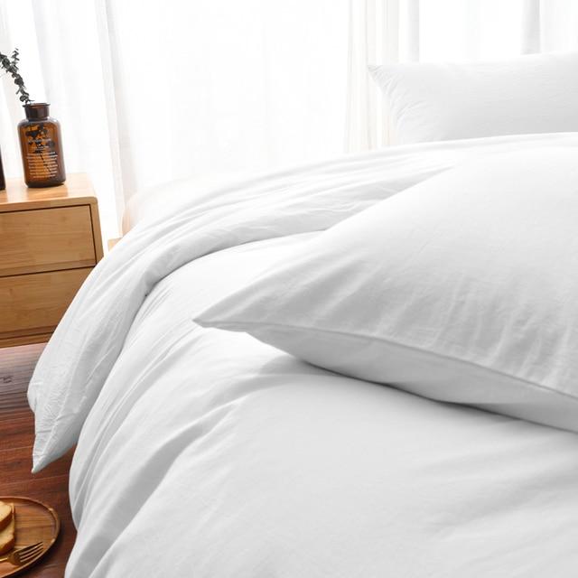 Luxury 100% Cotton Duvet Cover Set High-end Bedding Set Queen King Size 3Pcs White Black Blue Gray Pink Duvet Cover 4