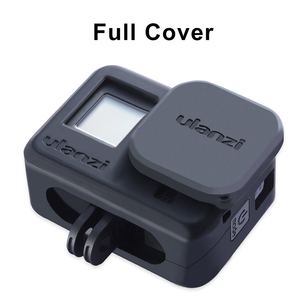 Image 3 - Ulanzi G8 3 Siliconen Case Voor Gopro Hero 8 Zwarte Cover Case Met Zonnekap Hand Strap Soft Box Voor Gopro 8 Accessoires