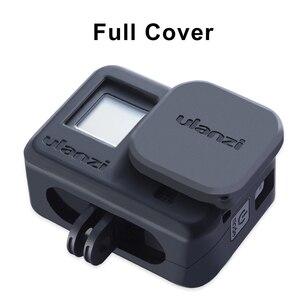 Image 3 - Силиконовый чехол ulanzi для Gopro Hero 8, черный чехол с капюшоном для объектива, мягкий чехол с ремешком на руку, аксессуары для GoPro 8