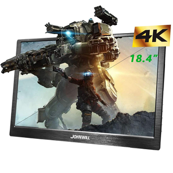 New 18.4 4K Portable Monitor FHD 3840 x 2160 IPS LCD Display PC USB-C HDMI Input Gaming Monitor for Raspberry Pi PS3 PS4 Xbox 15 6 1920x1080 ips portable computer monitor pc hdmi ps4 xbox ps3 1080p lcd led display monitor for raspberry pi 3 b 2b laptop