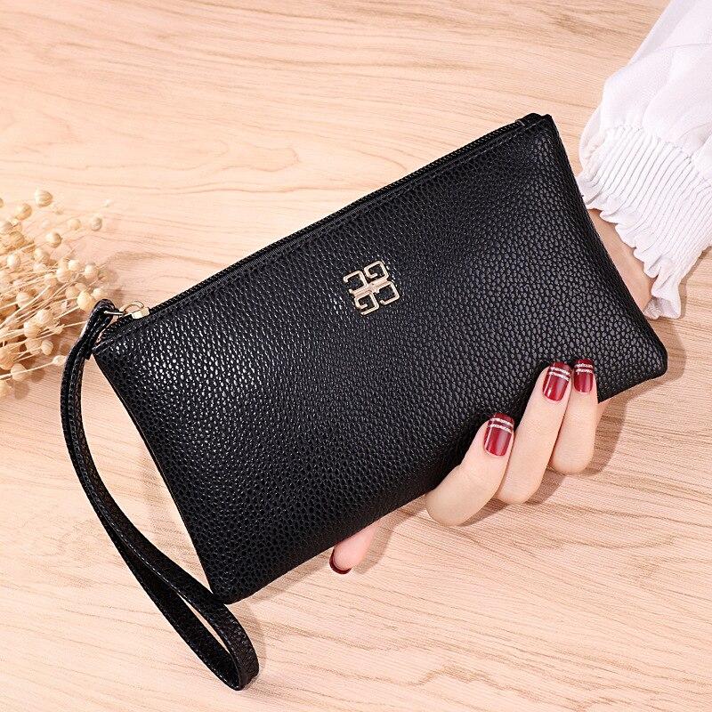 Wallet Women Mobile Phone bag Brand Designer Female Card PU Leather Long Womens and Purses Ladies Slim Holder