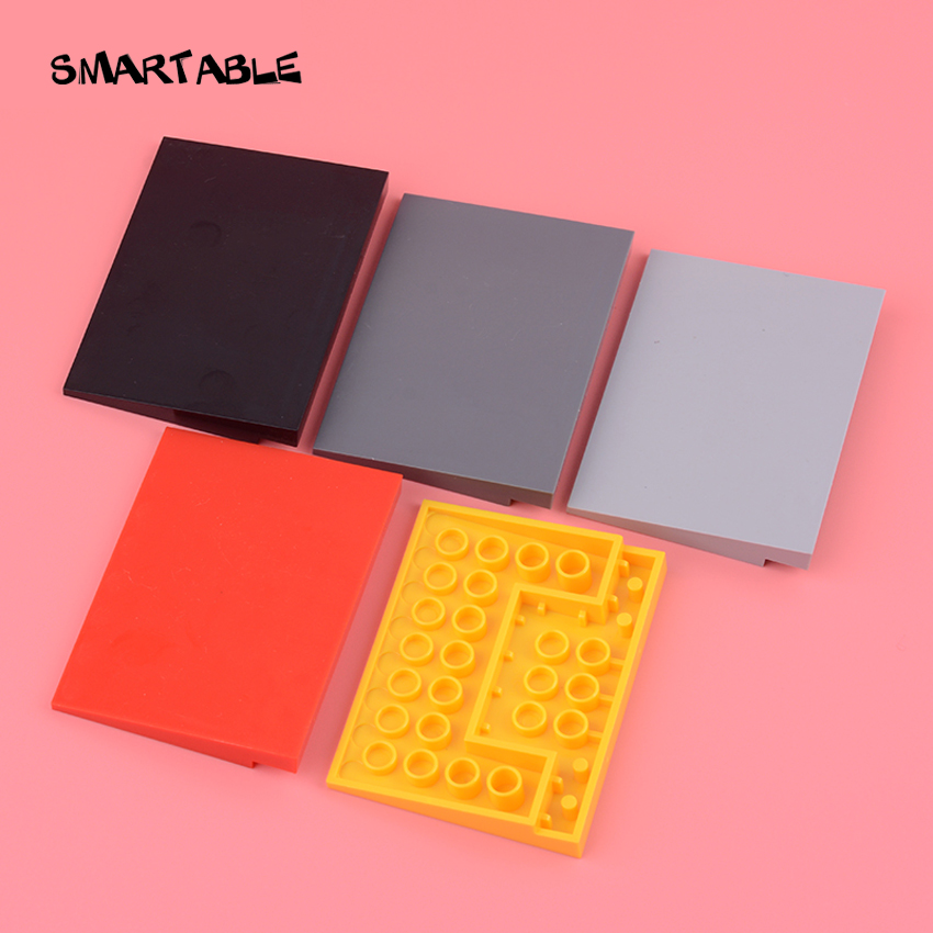 Smartable Slope 6x8 (10°)  Roof Building Blocks MOC Parts Toys For Kids Compatible All Brands City 4515 10pcs/lot